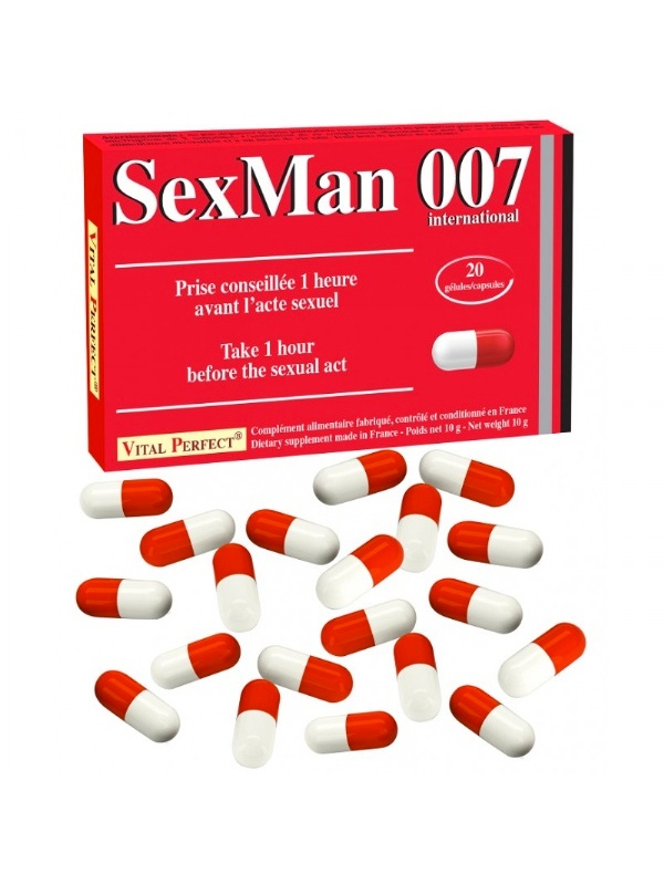 Gélules Aphrodisiaque Sex Man 007 20x