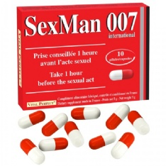 Gélules Aphrodisiaque Sex Man 007 10x