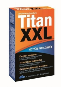 Titan XXL Stimulant sexuel action prolongée 20 comprimés